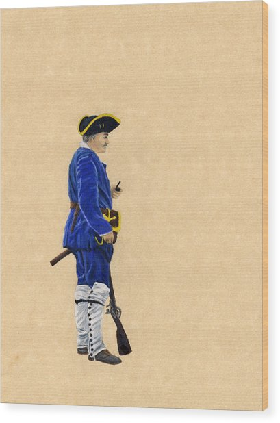 Fort Toulouse Soldier At Ease Wood Print by Beth Parrish