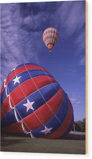 Fort Worth Balloons Wood Print