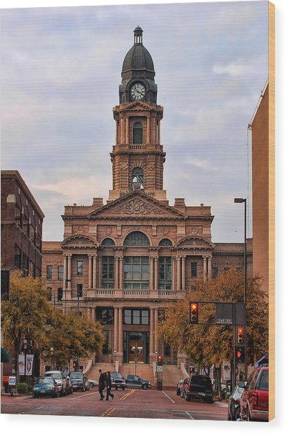 Fort Worth Courthouse Wood Print
