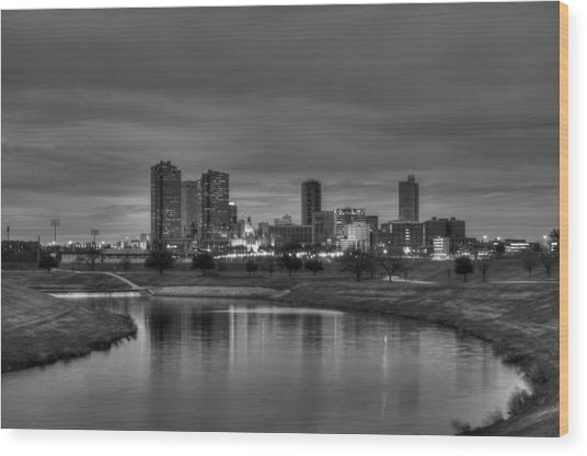 Fort Worth Wood Print