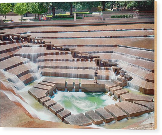 Fort Worth Water Garden V7 Wood Print