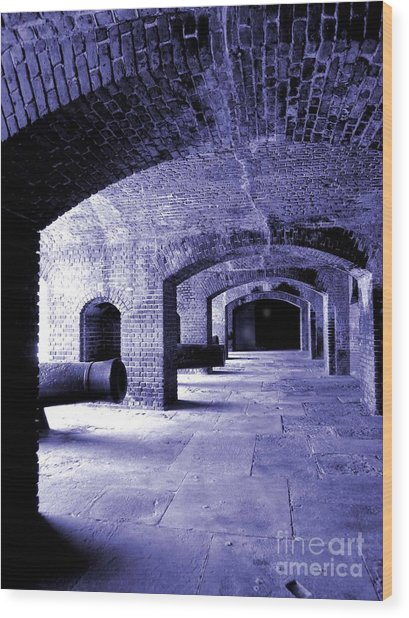 Fort Zachary Taylor2 Wood Print by Claudette Bujold-Poirier