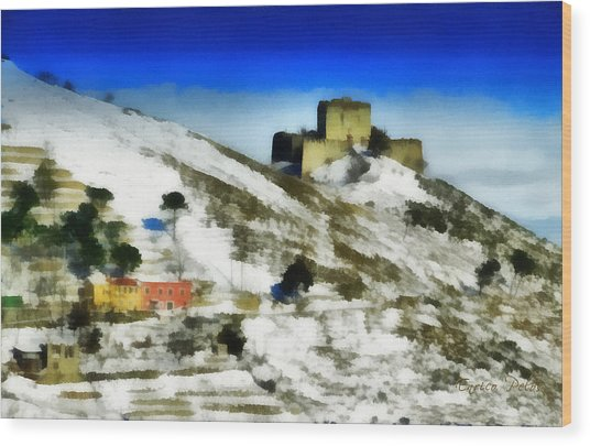 Wood Print featuring the painting Forte Puin 0875 - By Enrico Pelos by Enrico Pelos