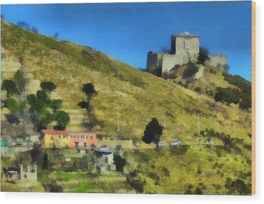 Wood Print featuring the painting Forte Puin 5307 - By Enrico Pelos by Enrico Pelos