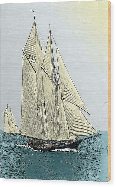 Fortuna - Schooner Yacht Wood Print