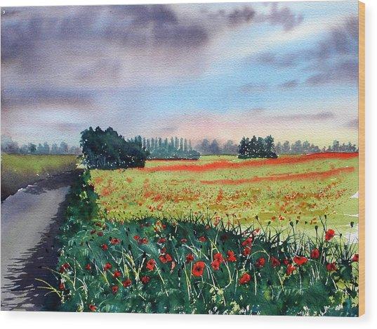 Forty Acre Field Near Easingwold Wood Print