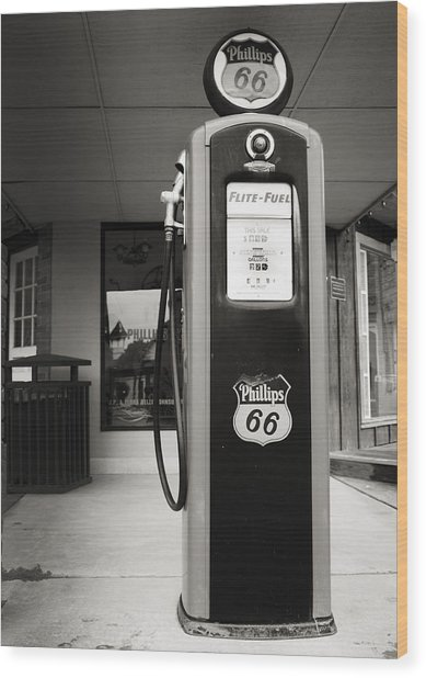 Forty Cents A Gallon Wood Print