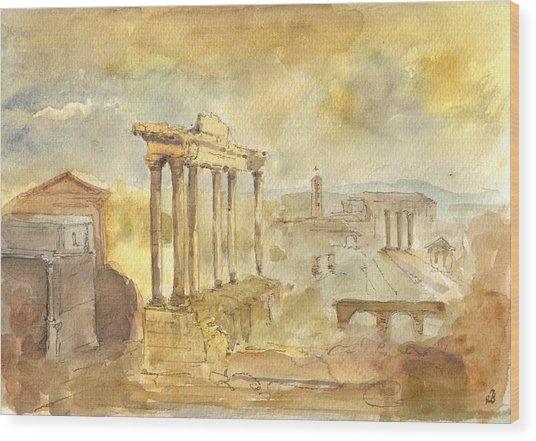 Forum Romano Wood Print