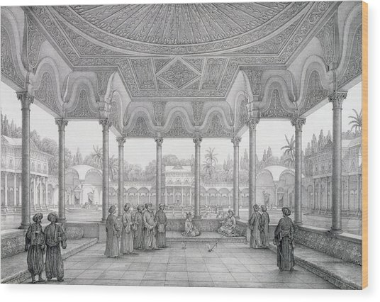 Fountain And Kiosk Of The Garden Of Choubrah Wood Print