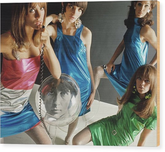 Four 1960s Style Models Wood Print