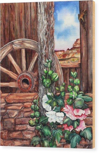 Four Corners Wood Print