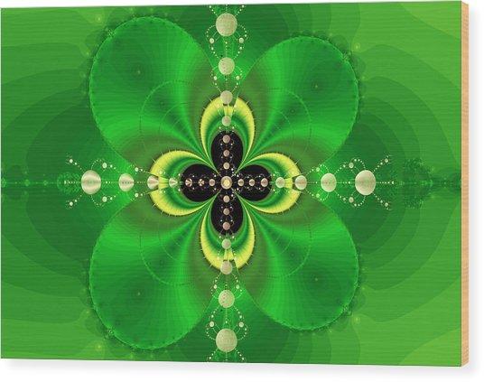 Four Leaf Clover Wood Print by Reginald Atkins