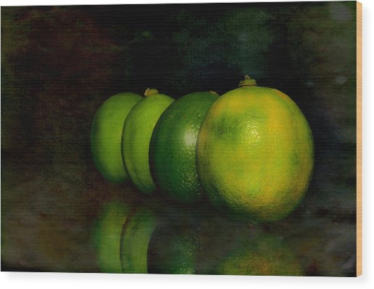 Four Limes Wood Print