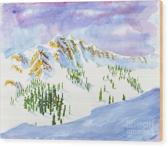 Four Sisters At Snowbasin Wood Print