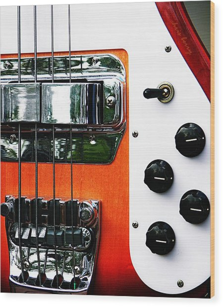 Four String Rickenbacker Bass  Wood Print