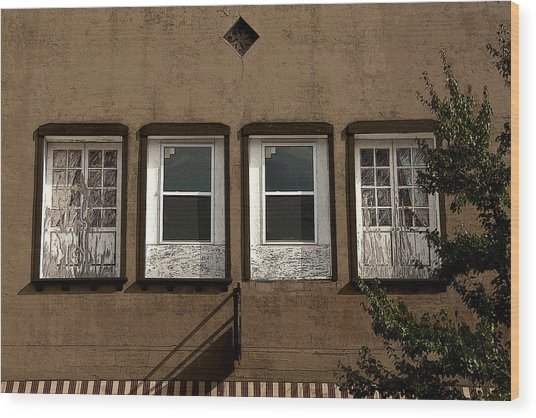 Four Windows Wood Print
