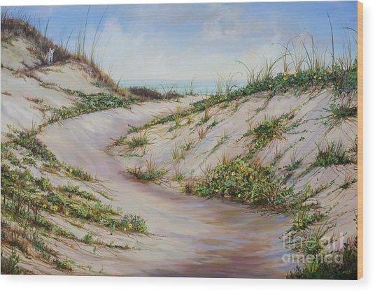 Fox Dunes Wood Print