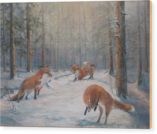 Forest Games Wood Print