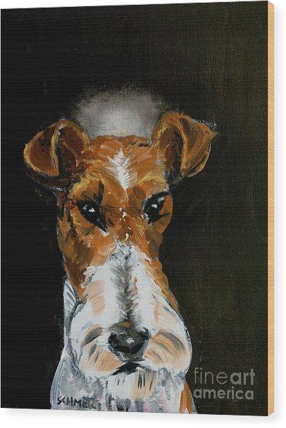 Fox Terrier Angel Wood Print by Jay  Schmetz