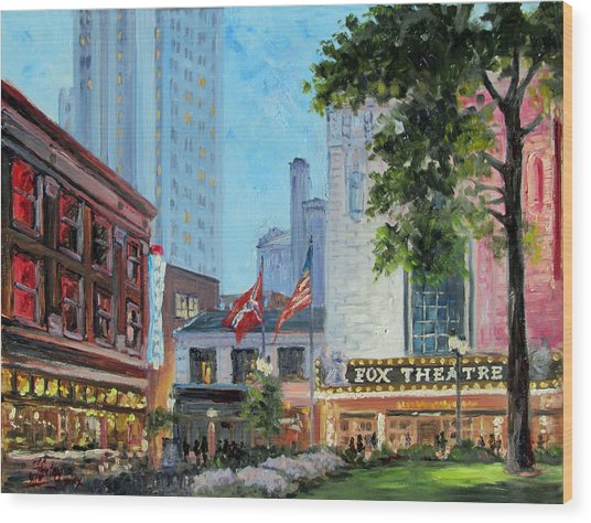 Fox Theatre Saint Louis Grand Boulevard Wood Print