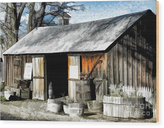 Foxen Winery Wood Print
