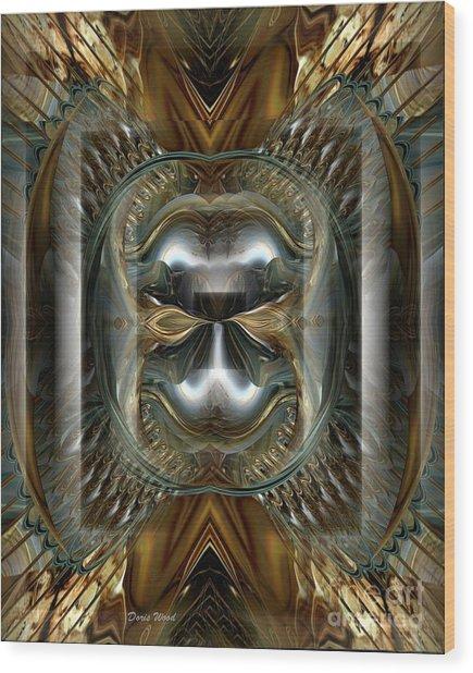 Fractal Display Number Eight Wood Print by Doris Wood