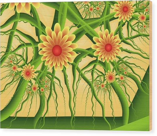 Fractal Summer Pleasures Wood Print