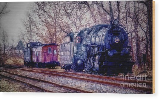 Fractalius Choo Choo Train Wood Print