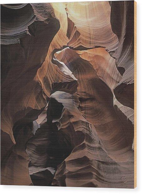 Fractured Light Wood Print