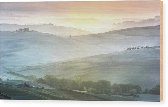 Fragile Sunrise Wood Print by Marek Boguszak