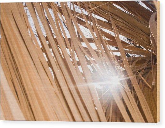 Fragmented Strength Wood Print