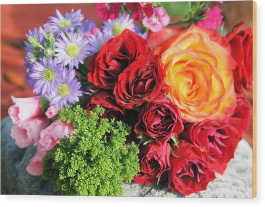 Fragrant Bouquet Wood Print by Paulette Maffucci