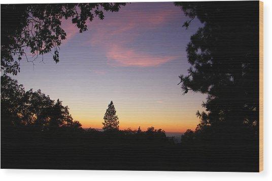 Framed Pink Clouds Wood Print