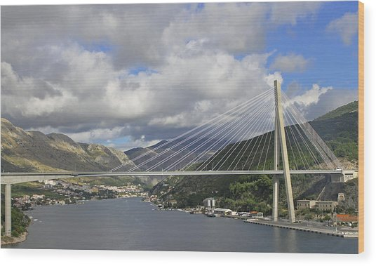 Franjo Tudman Bridge Wood Print