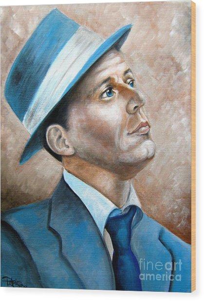 Frank Sinatra Ol Blue Eyes Wood Print