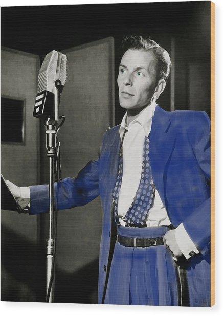 Frank Sinatra - Old Blue Eyes Wood Print
