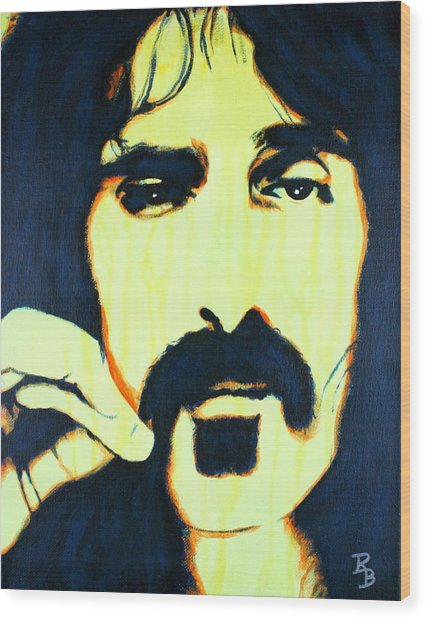 Frank Zappa Pop Art Wood Print