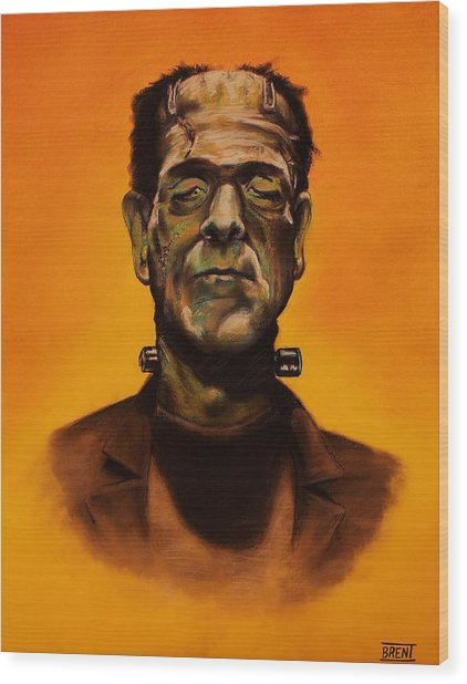 Frankenstein's Monster Wood Print