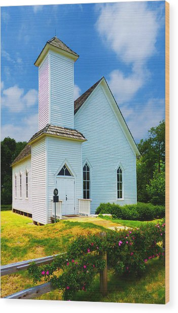 Frankford Church In Spring Wood Print