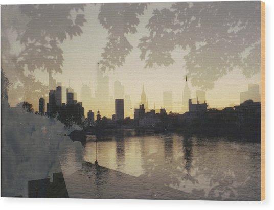 Frankfurt Am Main Wood Print by Juan  Bosco