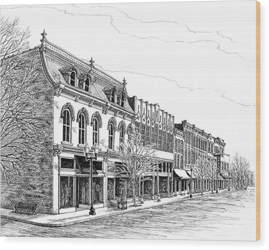 Franklin Main Street Wood Print