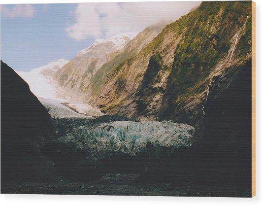 Franz-josef Glacier Wood Print