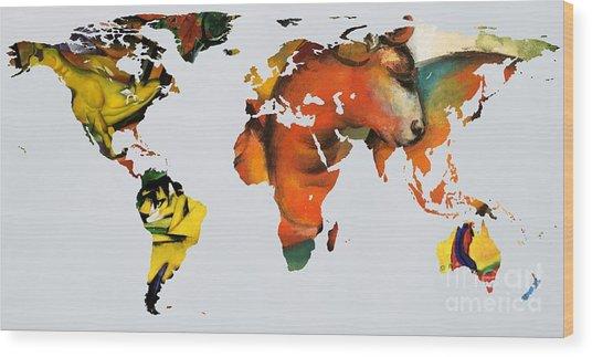 Franz Marc 2  World Map Wood Print