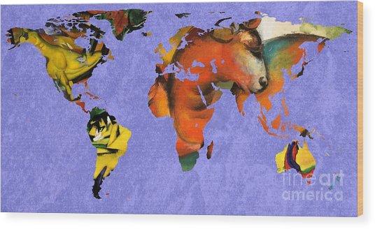Franz Marc 1 World Map Wood Print