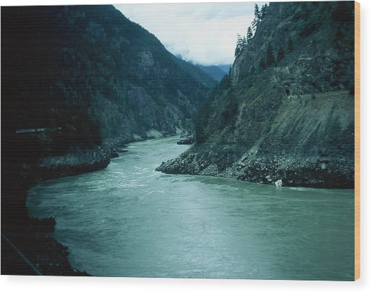 Fraser River Wood Print by Dick Willis