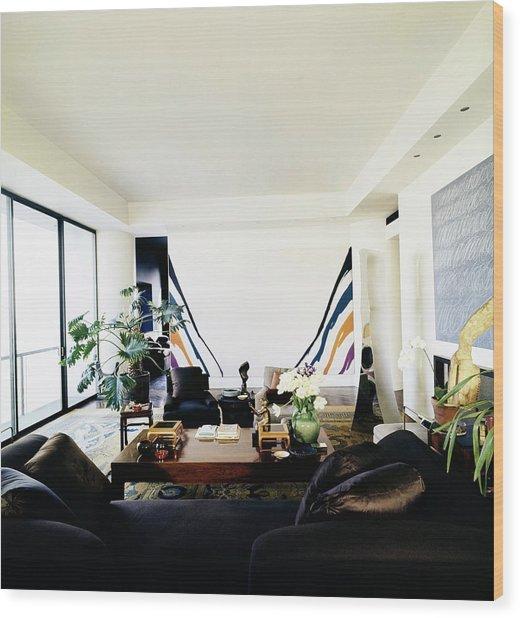 Fred Mueller's Living Room Wood Print by Horst P. Horst