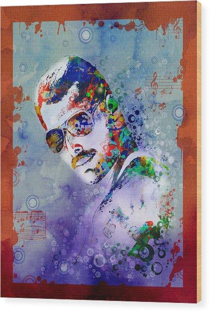 Freddie Mercury 12 Wood Print
