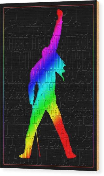 Freddie Mercury 2 Wood Print