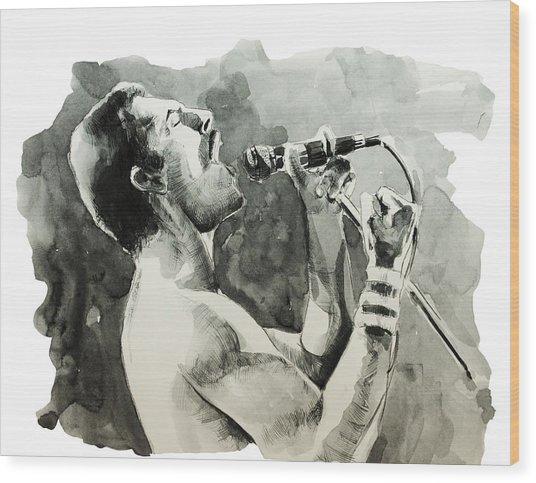 Freddie Mercury 8 Wood Print