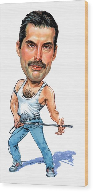 Freddie Mercury Wood Print by Art